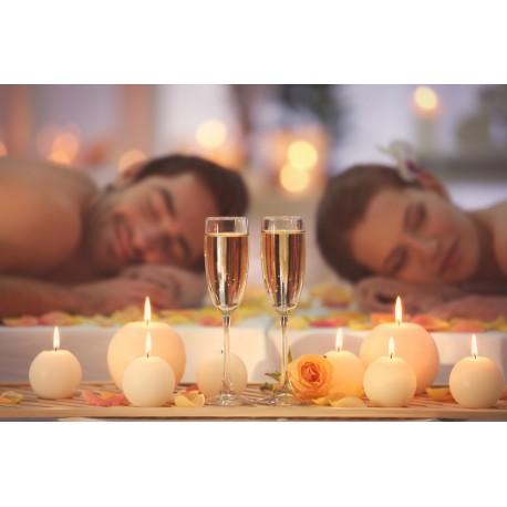 Evasion love à deux 1H00. Massage aux huiles chaudes, champagne et gourmandises