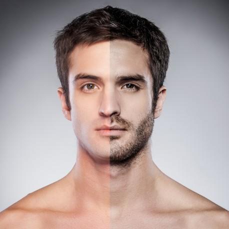 Epilation homme moustache