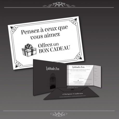 Chèque cadeau à la carte latitude zen Paris 11