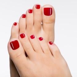 Pose vernis semi-permanent rituel manucure pieds
