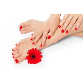 Soin des pieds yumi feet et vernis semi permanent couleur