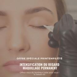 Maquillage permanent, intensification du regard entre cils supérieur ou inférieur femme et homme