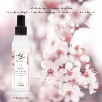 Lait corps SAKURA fleur de cerisier MySpa 100ml