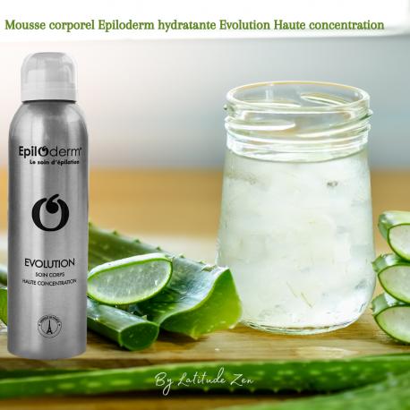 Mousse corporelle hydratante anti-repousse évolution epiloderm