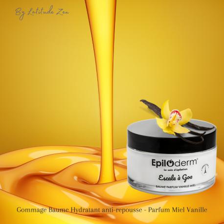 Baume gommage hydratant anti-repousse miel & vanille épiloderm