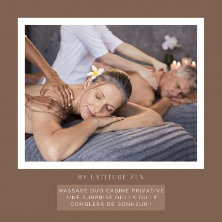 Massage duo relaxant aux huiles essentielles parfumées 120 minutes