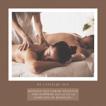 Massage duo relaxant aux huiles essentielles parfumées 30 minutes