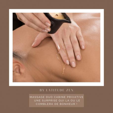 Massage DUO 90 minutes relaxant à la bougie