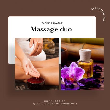Massage duo relaxant aux huiles essentielles chaudes 90 minutes