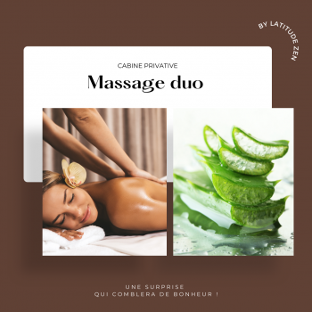 Massage couple relaxant à l'aloé vera 50 minutes