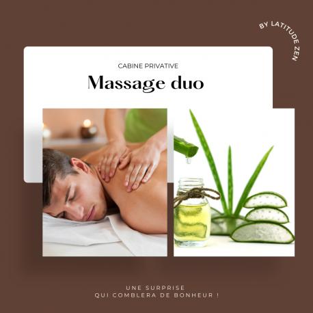 Massage duo relaxant à l'aloé vera 90 minutes