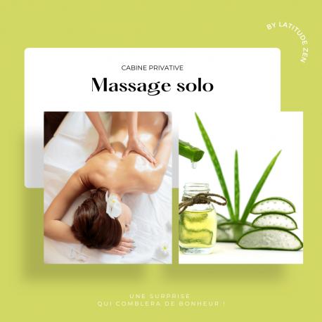 Massage solo relaxant à l'aloé vera 40 minutes