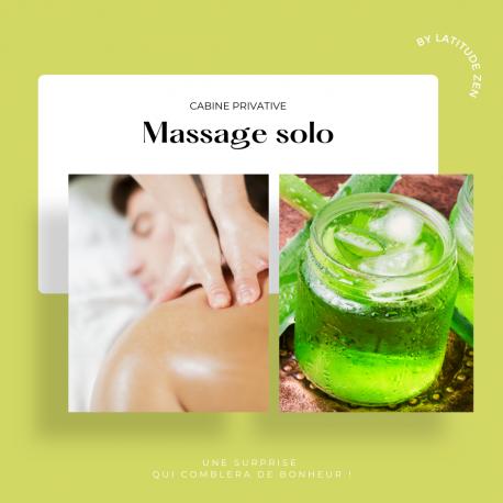 Massage solo relaxant à l'aloé vera 60 minutes