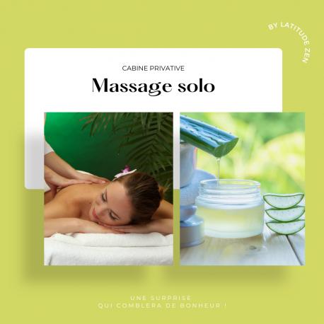 Massage solo relaxant à l'aloé vera 90 minutes