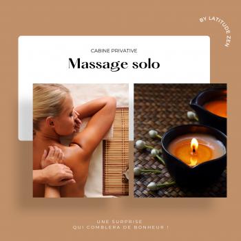 Massage solo 30 minutes relaxant à la bougie