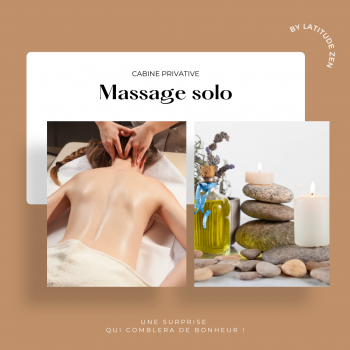 Massage solo relaxant aux huiles essentielles parfumées 30 minutes