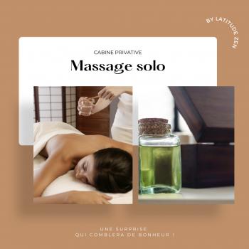 Massage solo relaxant aux huiles essentielles parfumées 40 minutes