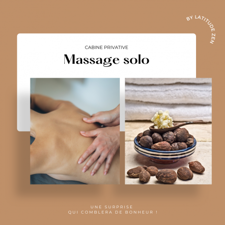 Massage solo relaxant au beurre de karité parfumé 30 minutes