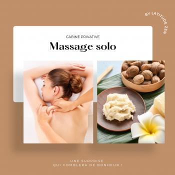 Massage solo relaxant au beurre de karité parfumé 40 minutes