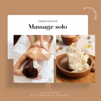 Massage solo relaxant au beurre de karité parfumé 90 minutes
