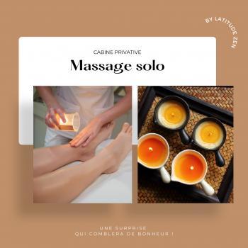 Massage solo 60 minutes relaxant à la bougie
