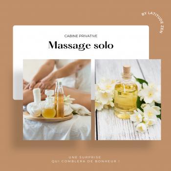 Massage solo relaxant aux huiles chaudes 50 minutes