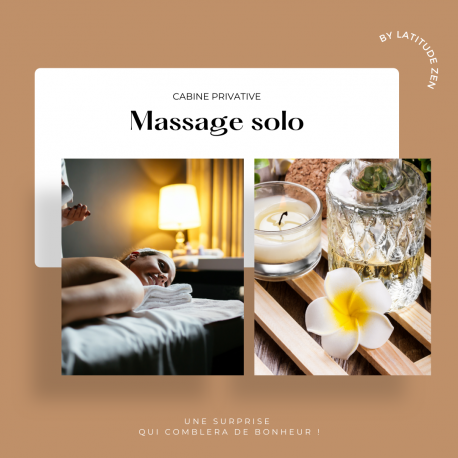 Massage solo 60 minutes relaxant aux huiles chaudes