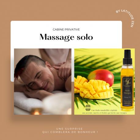 Massage solo parfumé huile mangue 1h latitude zen