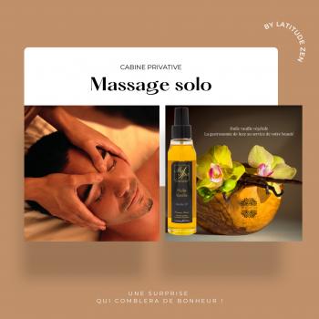 Massage solo parfumé huile vanille 1h latitude zen