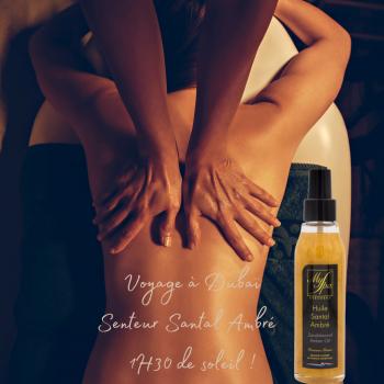gommage corps et massage solo senteur santal ambré latitude zen